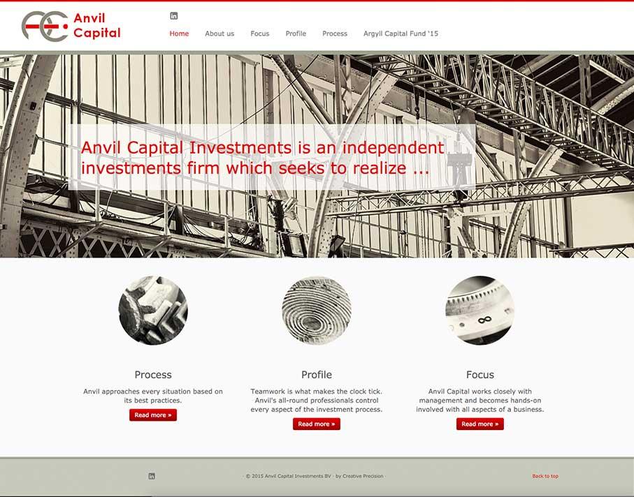 Anvil Capital Website